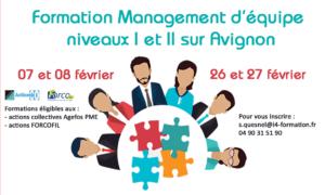 Formation management d'équipe niveau I et II les 07, 08, 26 et 27 février 2019